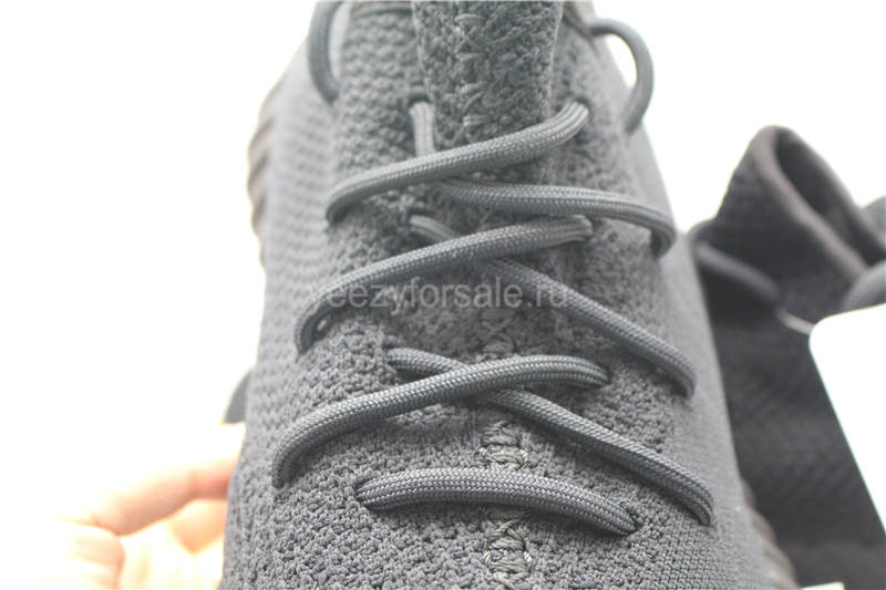 Authentic Adidas Yeezy Boost 350 v2 Triple Black (2017 Updated Newest Version)