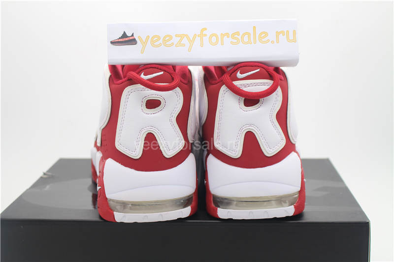 Authentic Supreme x Nike Air More Uptempo Varsity Red White