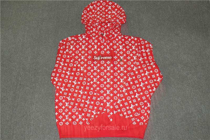 Supreme x Lx Hoodies Red (Updated Correct Version)