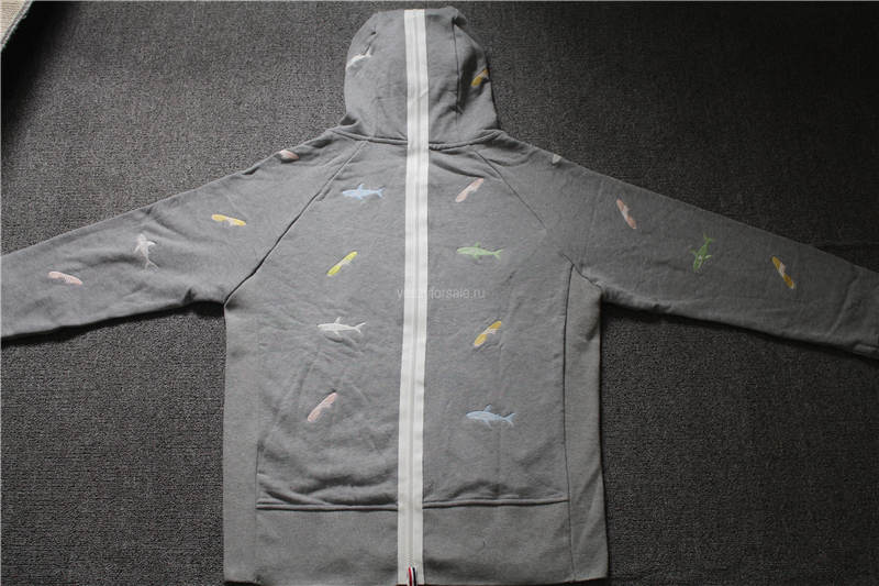 Thom Browne Hoodies Grey (Patchwork design)