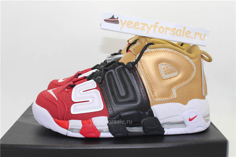 Authentic Supreme x Nike Air More Uptempo Tri-Color