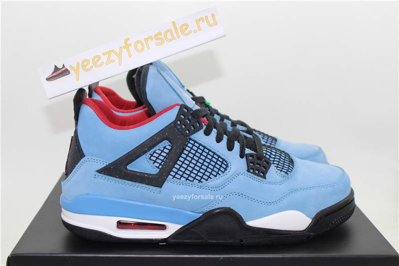 Authentic Travis Scott x Air Jordan 4 Houston Oilers