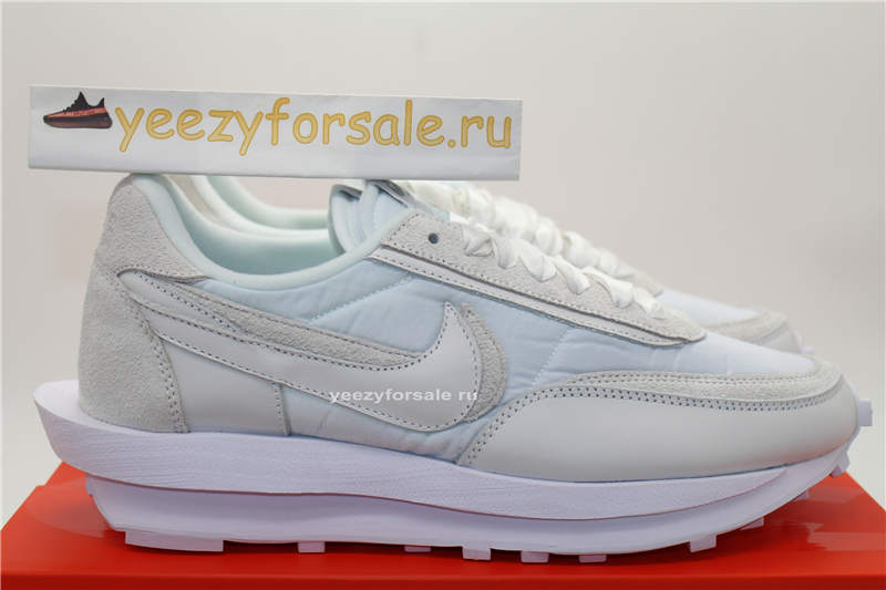 God Version Sacai x Nike LDV Waffle White Nylon