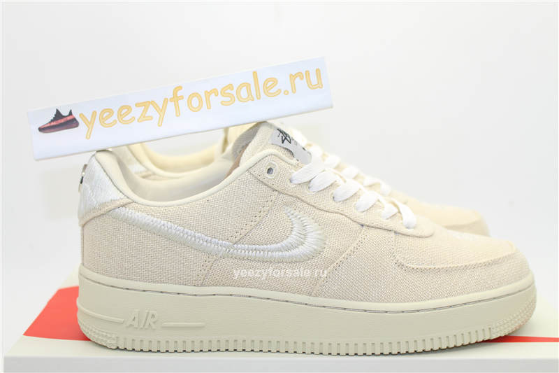 God Version Stussy x Nike Air Force 1 Beige